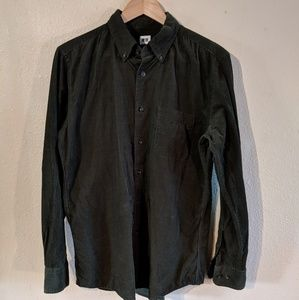 Uniqlo Corduroy Button Up- Forest Green